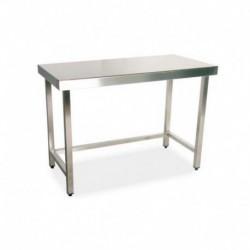 Mesa de trabajo central 1400x500x850 mm sin estante desmontada