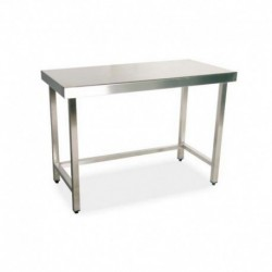 Mesa de trabajo central 800x500x850 mm sin estante montada