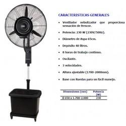 ventilador nebulizador frio agua