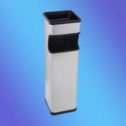 CENICERO PAPELERA  INOX CUADRADA 185x185x655 mm