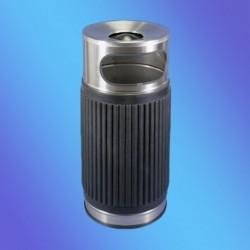 CENICERO PAPELERA INOX REDON. POLIURETANO CUBO INT. 835x370 mm