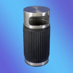 PAPELERA INOX REDON.  POLIURETANO CUBO INT. 835x370 mm