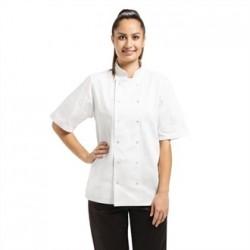 Chaqueta de cocina Vegas manga corta blanca