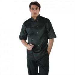 Chaqueta de cocina Vegas manga corta negra Talla XXL