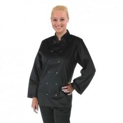 Chaqueta de cocina Vegas manga larga negra Talla XXL