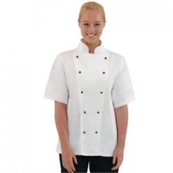 Chaqueta de cocina Chicago manga corta blanca Talla S
