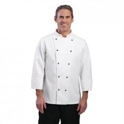 Chaqueta de cocina Chicago manga larga blanca Talla S