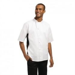 Chaqueta de cocina Nevada blanca con detalle en negro Talla XS