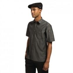Camisa vaquera Detroit unisex manga corta negro Talla S