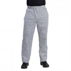 Pantalón de cocinas Vegas de cuadros blancos y negros
