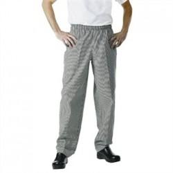 Pantalón de cocina unisex Easyfit cuadro negro pequeño
