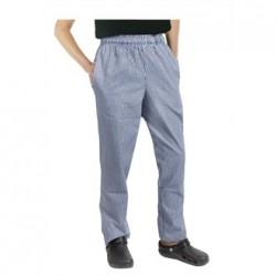 Pantalón de cocina unisex Easyfit cuadro azul pequeño Talla S