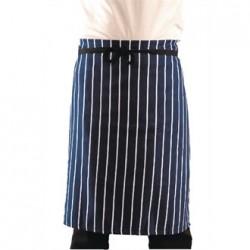 Delantal de cintura Azul marino a rayas estampadas blancas Tamaño XL