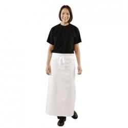 Delantal de cintura extralargo Blanco con ojales de latón Medidas 914x914 mm