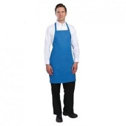 Delantal con peto y cuello ajustable azul Medidas 860x610 mm
