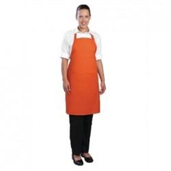 Delantal con peto y cuello ajustable naranja Medidas 860x610 mm