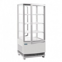 Vitrina frigorífica vertical puertas curvadas