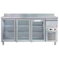 Frente Mostrador Refrigerado con puertas de cristal