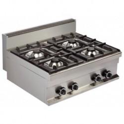Cocina a gas sobremesa 4 - 6(Kw) 800x700x290 mm Arisco