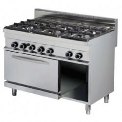 Cocina a gas sobremesa 6 - 6(Kw) 1200x700x290 mm Arisco