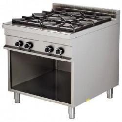Cocina a gas Fuegos: 4 - 8(Kw) 850x900x900 mm Arisco