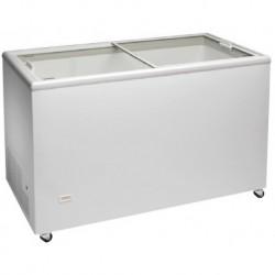Congelador Horizontal Puerta Vidrio Curvo Corredera 1063x670x900 mm