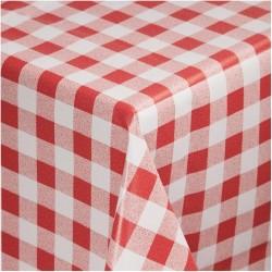 Mantel cuadros rojo 1370 x 1370mm