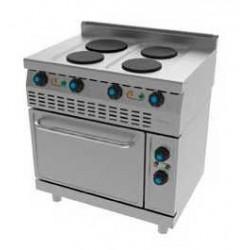 Cocina Eléctrica 4 Placas con Horno 614E Jemi