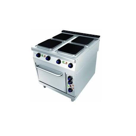 Cocina el ctrica 4 placas con horno 614ec jemi grupo - Placa electrica cocina ...