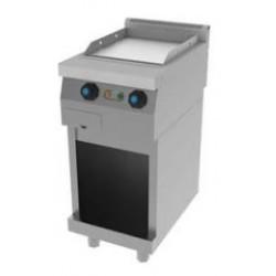 Plancha Fry-Top a Gas de Cromo Duro Lisa, con Mueble de 400x600x850 mm Jemi