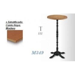 Mesa Alta M349 60Ø Estratificado Canto Haya