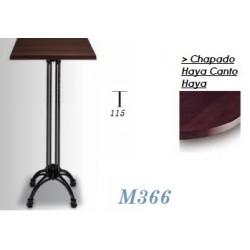 Mesa Alta M366 70x70 Chapado Haya Canto Haya