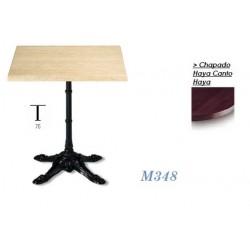 Mesa M348 60Ø Chapado Haya Canto Haya