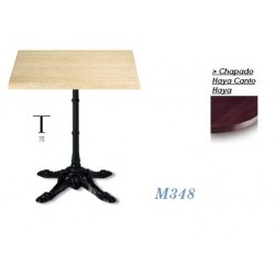 Mesa M348 70Ø Chapado Haya Canto Haya