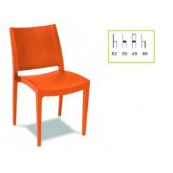 Silla M163 Monobloc. Naranja