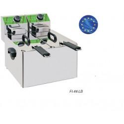 Freidora Eléctrica FI-44-LB 4+4 Litros Sobremostrador 'Eco'
