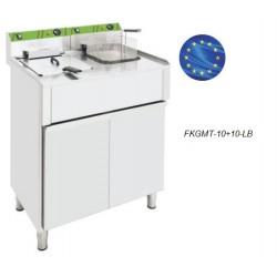 Freidora Eléctrica Trifásica 10+10 L con Mueble FKGMT-10+10-LB
