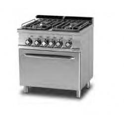 Cocina GAS 4 Fuegos + Horno Eléctrico VENTILADO SERIE 70 LOTUS