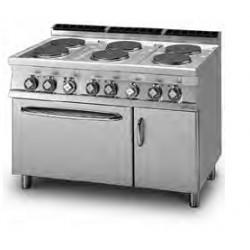 Cocina Eléctrica 6 Placas + Horno Eléctrico Ventilado + Armario Neutro Serie 70 LOTUS