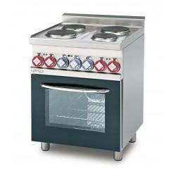 Cocina Trifásica 4 Fuegos + Horno Eléctrico Multifuncional Cámara