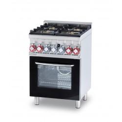 Cocina Mixta 4 Quemadores + Horno Multifuncional Cámara SERIE 60 LOTUS