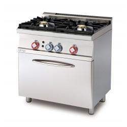 Cocina Mixta 2 Fuegos + Horno Eléctrico Multifuncional GN 1/1  SERIE 60 LOTUS