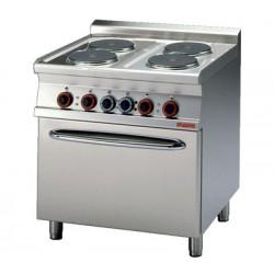 Cocina Eléctrica 4 Placas + Horno eléctrico estático LOTUS