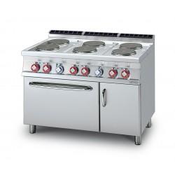 Cocina Eléctrica 6 Placas + Horno Eléctrico Estático + Armario Neutro Serie 70 LOTUS
