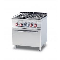 Cocina a GAS 4 Fuegos + Horno Estático SERIE 70 LOTUS