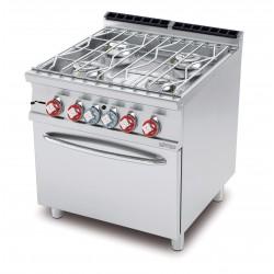 Cocina a AGUA 4 Fuegos + Horno GAS Estático SERIE 70 LOTUS
