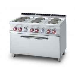 Cocina Eléctrica 6 Planchas + Horno Eléctrico Estático SERIE 70 LOTUS