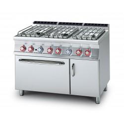 Cocina GAS 6 Fuegos + Horno Eléctrico Estático + Armario SERIE 70 LOTUS