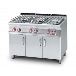 Cocina Sobre de Cocción GAS 6 Quemadores SERIE 70 LO0TUS