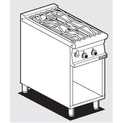 Cocinna Sobre de Cocción de AGUA a Gas 2 Quemadores SERIE 70 LOTUS